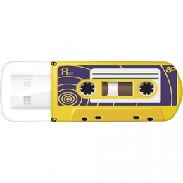 Накопитель USB2.0 Verbatim Mini Casette Edition 16GB Yellow