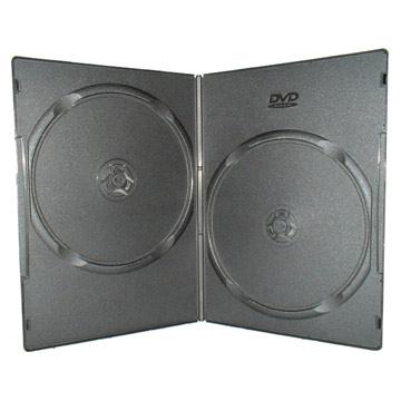 Коробка DVD-Box Black (7мм, двойной, 200шт. в упаковке)