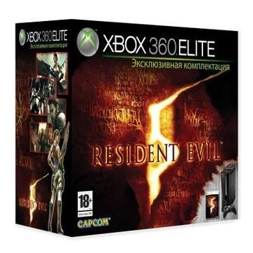 Microsoft Xbox 360 Elite (52V-00061, 120Gb, игра Resident Evil 5)