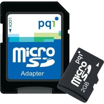 MicroSD 02Гб PQI (адаптер)