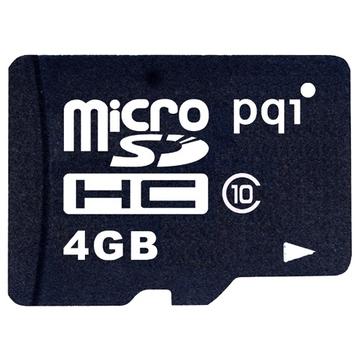 MicroSDHC 04Гб PQI Класс 10 (адаптер)