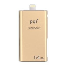 Флешка USB 3.0 PQI iConnect 64 гб Gold