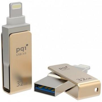 Флешка USB 3.0 PQI iConnect Mini 32Гб Gold