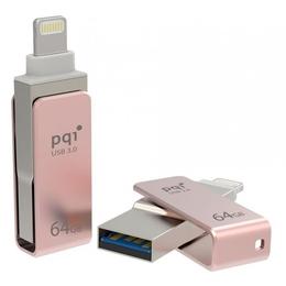 Флешка USB 3.0 PQI iConnect Mini 64 гб Rose Gold