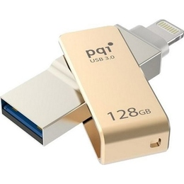 Флешка USB 3.0 PQI iConnect Mini 128гб Gold
