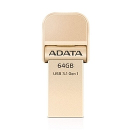 Накопитель USB3.1 A-Data AI920 i-Memory 64 гб Gold