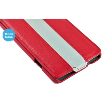 Чехол Art Case Red White  (для Sony Xperia ZR, кожа)