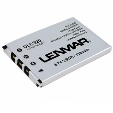 Lenmar DLCS20 (аналог аккумулятора Casio NP-20, 3.7V, 650mAh]