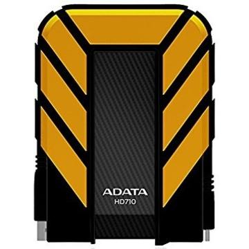 """Внешний жесткий диск 2Тб A-Data HD710 Yellow (2.5"""", USB3.0, прорезиненный, водонепроницаемый, противоударный)"""