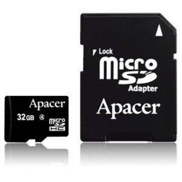 MicroSDHC 32Гб Apacer Класс 4 (адаптер)
