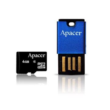 MicroSDHC 04Гб Apacer Класс 4 (адаптер RP)