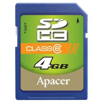 SDHC 04Гб Apacer Класс 4