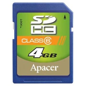 SDHC 04Гб Apacer Класс 6