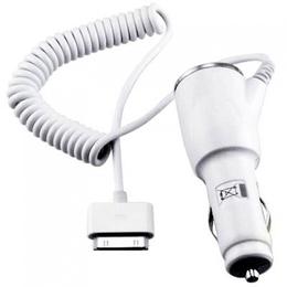 Адаптер питания автомобильный Apple White (для всех iPad, iPhone, iPod, код 02212)