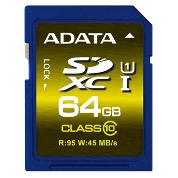 SDXC 64Гб A-Data Класс 10 UHS-I