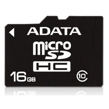 MicroSDHC 16Гб A-Data Класс 10 (без адаптера)