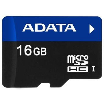 MicroSDHC 16Гб A-Data UHS-I Класс 6 (адаптер)