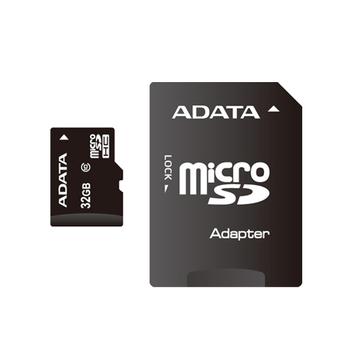 MicroSDHC 32Гб A-Data Класс 10 (адаптер)