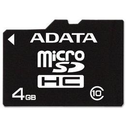 MicroSDHC 04Гб A-Data Класс 10 (без адаптера)