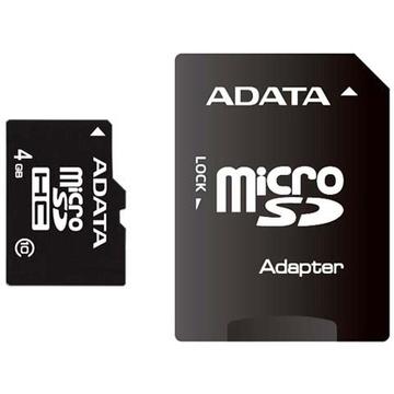 MicroSDHC 04Гб A-Data Класс 10 (с адаптером)
