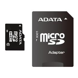 MicroSDHC 08Гб A-Data Класс 10 (адаптер)