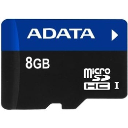 MicroSDHC 08Гб A-Data UHS-I (адаптер)