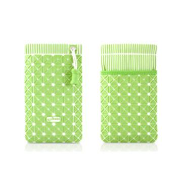 Чехол Bone Phone Cell 4 White Green (для iPhone4, в виде сумочки, силикон/микрофибра)