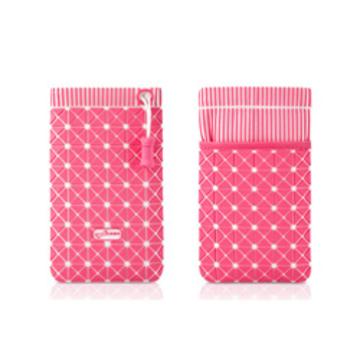 Чехол Bone Phone Cell 4 White Pink (для iPhone4, в виде сумочки, силикон/микрофибра)