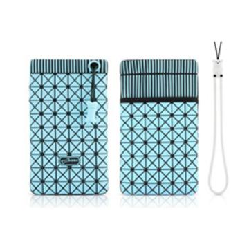 Чехол Bone Phone Cell 4 Black Blue (для iPhone4, в виде сумочки, силикон/микрофибра)