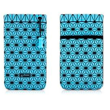 Чехол Bone Phone Cell Plus Blue (для iPhone/iPod, силикон, микрофибра, 85x152x4 мм)