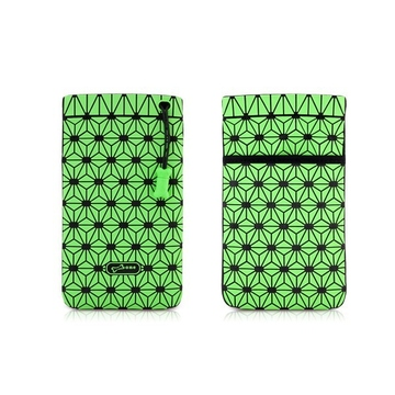 Чехол Bone Phone Cell Plus Green (для iPhone/iPod, силикон, микрофибра, 85x152x4 мм)