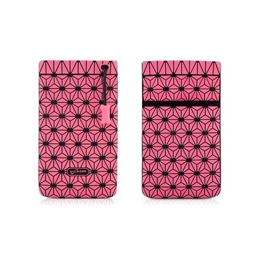 Чехол Bone Phone Cell Plus Pink (для iPhone/iPod, силикон, микрофибра, 85x152x4 мм)