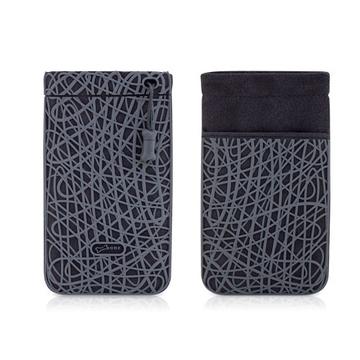 Чехол Bone Phone Scribble Grey (силикон/микрофибра, 87x152x7 мм)