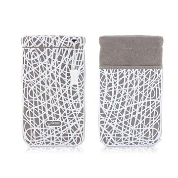 Чехол Bone Phone Scribble White (силикон/микрофибра, 87x152x7 мм)