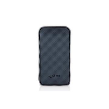 Футляр Bone Phone Strato Black (для iPhone4/4S, силикон, микрофибра, 67x123x7 мм)