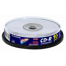 CD-R Fujifilm Cake Box 10шт (700MB, 52x)