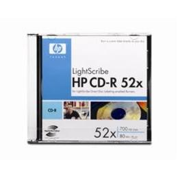 CD-R HP Slim Case 1шт (700MB, 52x, Lightscribe)