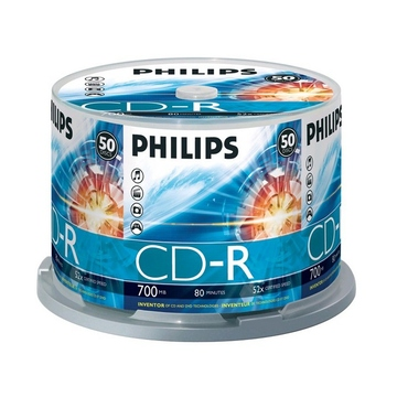 CD-R Philips Cake Box 50шт. (700MB, 52x, Printable)