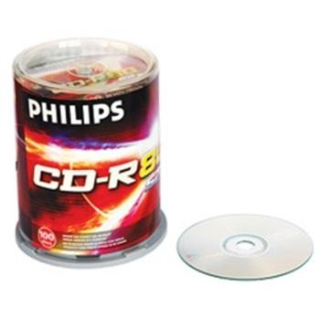 CD-R Philips Cake Box 100шт (700MB, 52x)