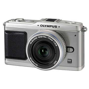 Olympus E-P1 Double Kit 14-42mm, 17mm Silver