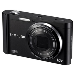 "Компактный фотоаппарат Samsung ST200 Black (16Mp, 10x Zoom, 3.0"" hVGA LCD Screen, HD видео)"