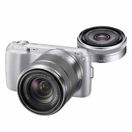 """Фотоаппарат беззеркальный Sony NEX-C3K White (16.2Mp, Video 720p, ISO 12800, 3""""LCD, 18-55mm)"""