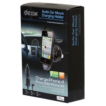 Держатель автомобильный Black (для IPhone 3GS/4 с функцией зарядки, АЗУ+чехол+аудиокабель)