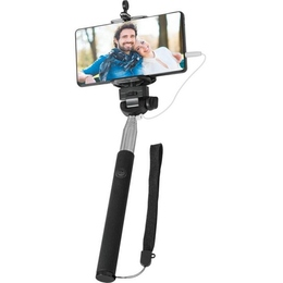 Штатив Monopod Defender Selfie Master SM-02 (телескопический, для селфи, проводной, таймер отсрочки на смартфоне, 20-98 см)