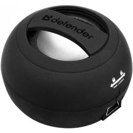 Колонки Defender SoundWay Black (прорезиненый пластик, 2Вт, зарядка от USB)