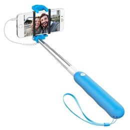 Штатив Monopod Deppa 45000 Selfie Mini Light Blue (телескопический, для селфи, 72см, проводной)