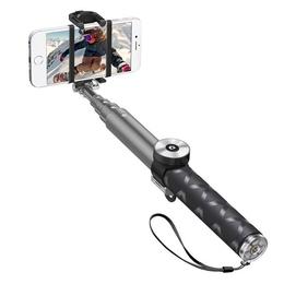 Штатив Monopod Deppa 45006 Selfie Pro Gray (телескопический, для селфи, 95см, bluetooth)
