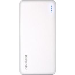 Портативный аккумулятор Defender 83639 White (2xUSB-выход, 10000mAh, 2A)