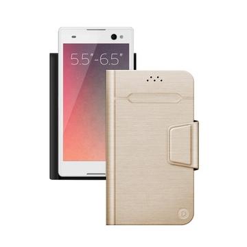 "Чехол Deppa Wallet Fold 87012 Gold (для смартфонов 5,5"" - 6,5"")"