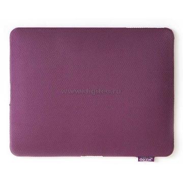 Чехол кожаный пурпурный (для iPad, в комлекте пленка для защиты экрана от царапин)